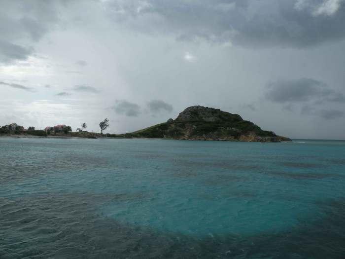 Llegando a la isla